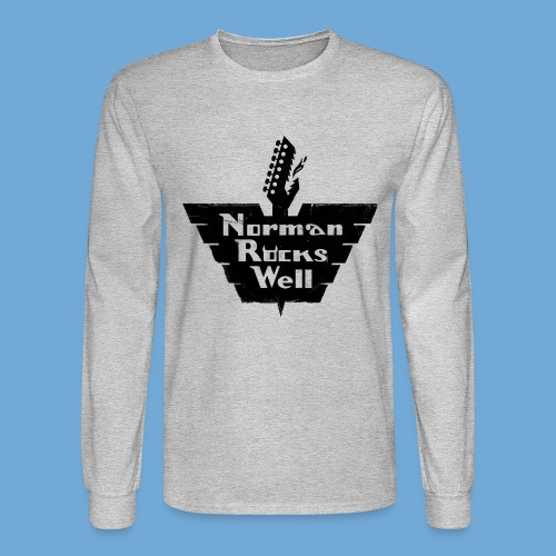 Norman Rocks Well logo in black. - Men's Long Sleeve T-Shirt