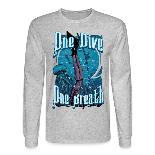 One Dive One Breath Freediving - Men's Long Sleeve T-Shirt