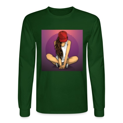 Lone Girl - Men's Long Sleeve T-Shirt