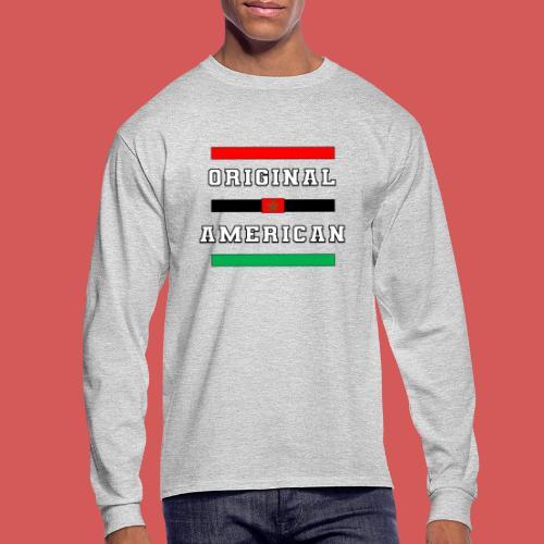 Original American Bars Moorish American Flag - Men's Long Sleeve T-Shirt
