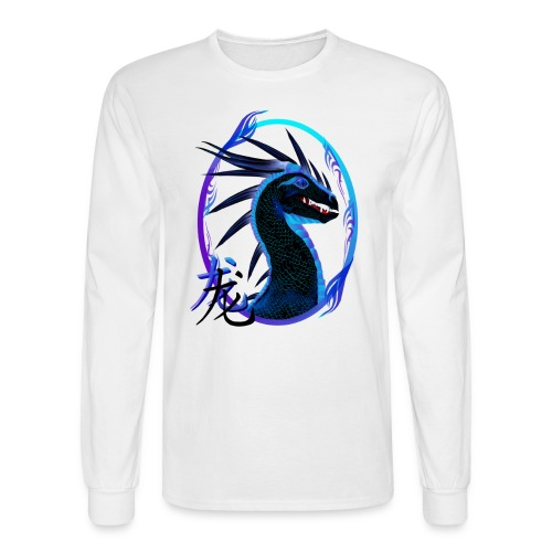Horned Black Dragon and Symbol - Men's Long Sleeve T-Shirt