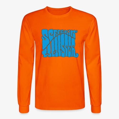 Screamin' Whisper Retro Logo - Men's Long Sleeve T-Shirt