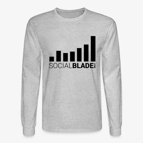 Socialblade (Dark) - Men's Long Sleeve T-Shirt