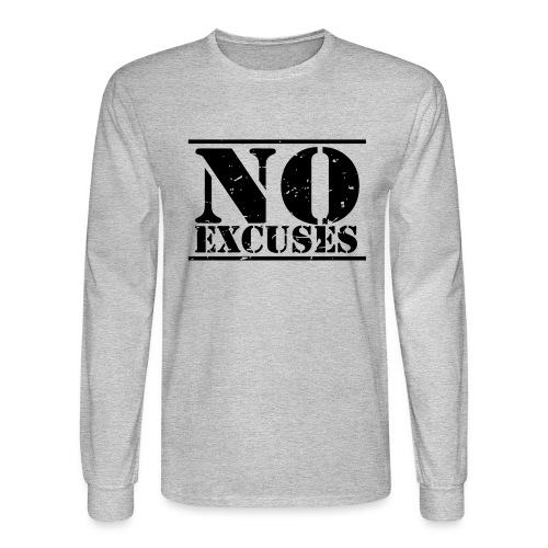 No Excuses training - Men's Long Sleeve T-Shirt