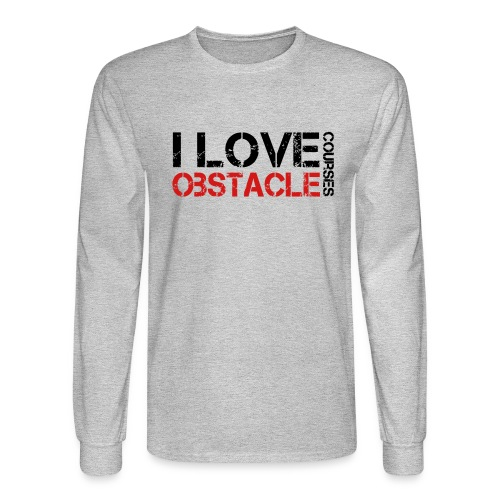 I love Obstacle Courses - Men's Long Sleeve T-Shirt