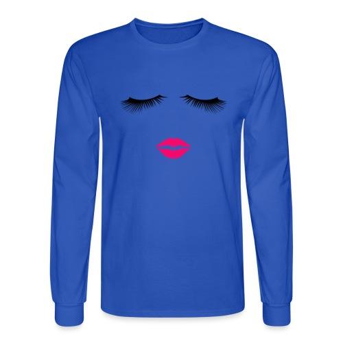 Lipstick and Eyelashes - Men's Long Sleeve T-Shirt