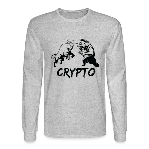 CryptoBattle Black - Men's Long Sleeve T-Shirt