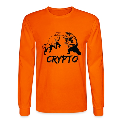 CryptoBattle Black - Men's Long Sleeve T-Shirt