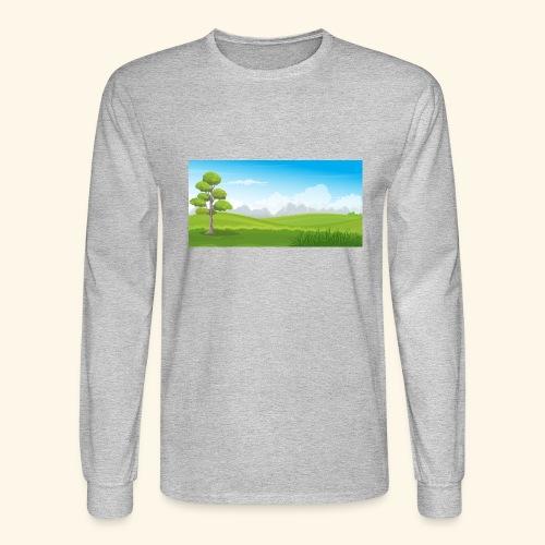 Hills cartoon - Men's Long Sleeve T-Shirt