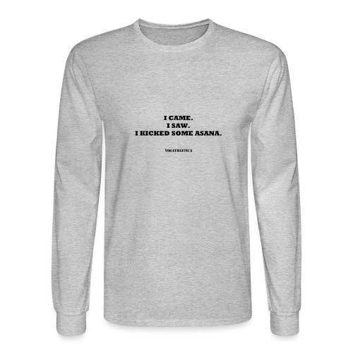 yoga kick asana - Men's Long Sleeve T-Shirt