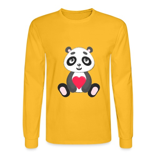 Sweetheart Panda - Men's Long Sleeve T-Shirt