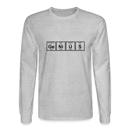 Genius (Periodic Elements) - Men's Long Sleeve T-Shirt