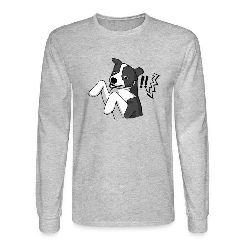 Surprised Border Collie - Men's Long Sleeve T-Shirt
