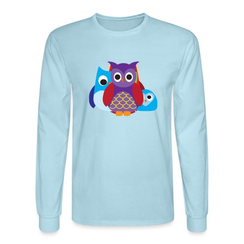 Cute Owls Eyes - Men's Long Sleeve T-Shirt