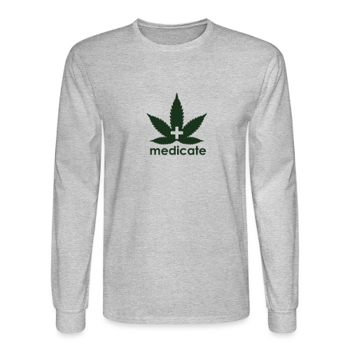 Medicate Supporter - Men's Long Sleeve T-Shirt