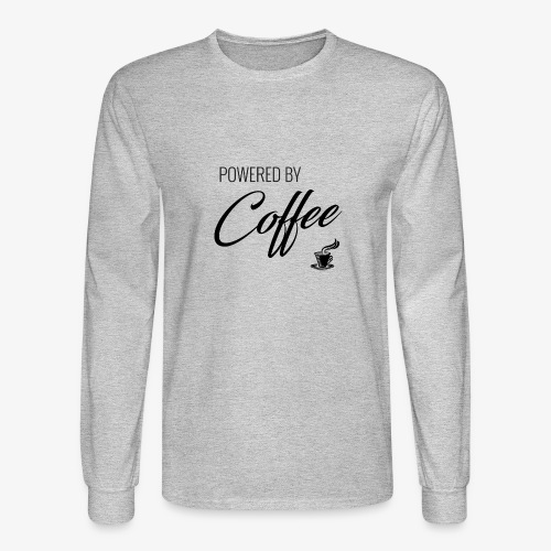 Powered by Coffee - Men's Long Sleeve T-Shirt
