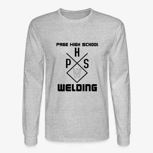 PHSW Design Logo w/ Text - Men's Long Sleeve T-Shirt