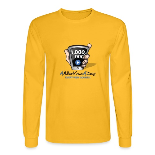AMillionViewsADay - every view counts! - Men's Long Sleeve T-Shirt
