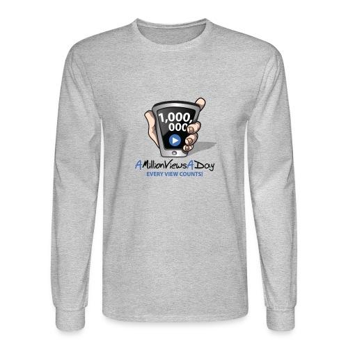 AMillionViewsADay - every view counts! - Men's Long Sleeve T-Shirt