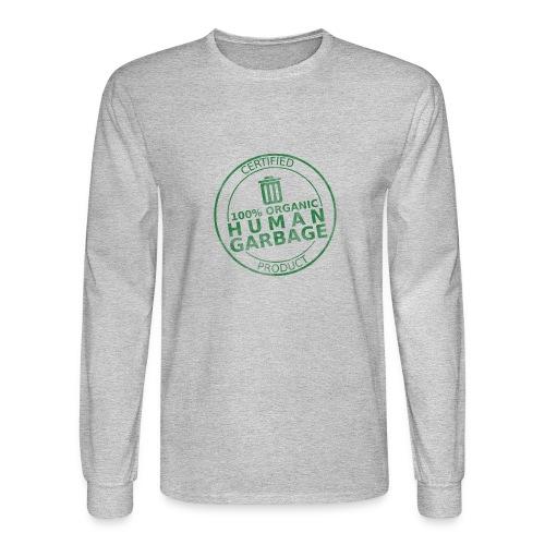 100% Human Garbage - Men's Long Sleeve T-Shirt