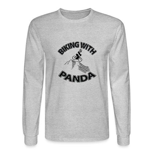 Biking with Panda - Men's Long Sleeve T-Shirt