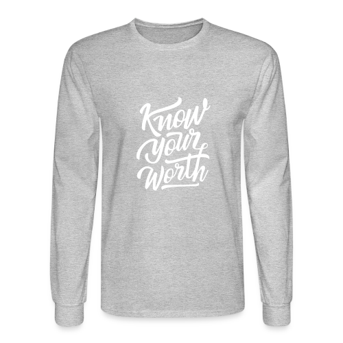 Know Your Worth - Men's Long Sleeve T-Shirt