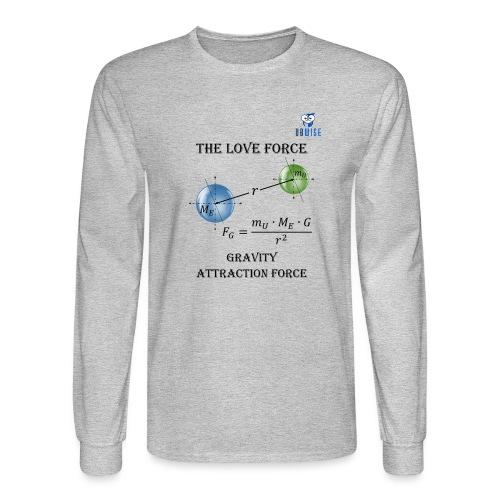 Newton Gravity MuMeG with UBWise logo - Men's Long Sleeve T-Shirt