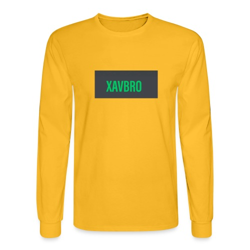 xavbro green logo - Men's Long Sleeve T-Shirt