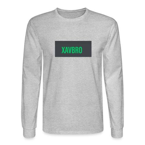 xavbro green logo - Men's Long Sleeve T-Shirt