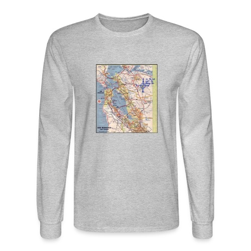 Phillips 66 Zodiac Killer Map June 26 - Men's Long Sleeve T-Shirt