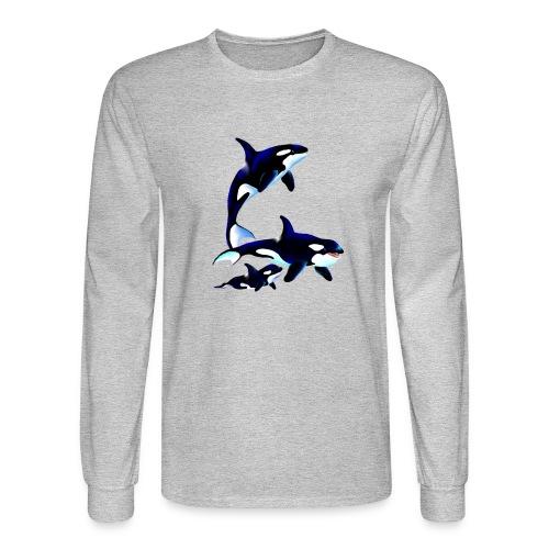 Killer Whale Family - Men's Long Sleeve T-Shirt