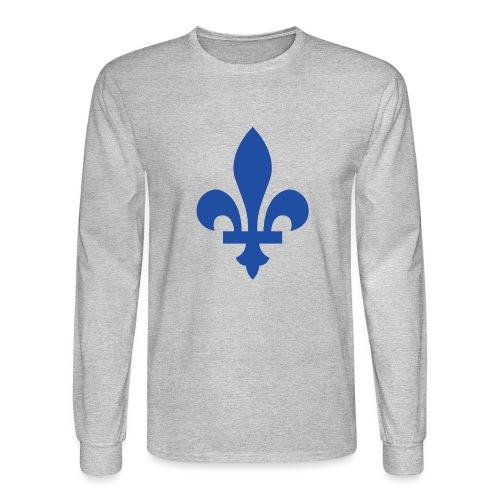 2000px Blue fleur de lis2 png - Men's Long Sleeve T-Shirt