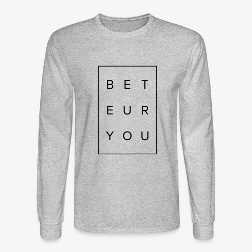 Black Puzzle Design - Be You, Be True - Men's Long Sleeve T-Shirt