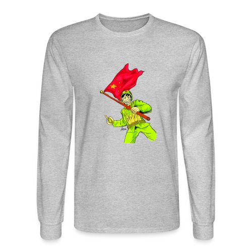 Chinese Soldier With Grenade - Men's Long Sleeve T-Shirt