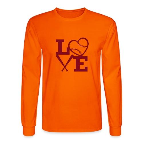 Love baseball - Men's Long Sleeve T-Shirt
