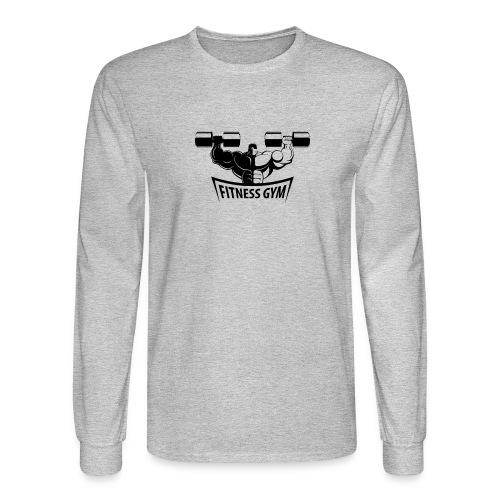 Fitness Gym Muscled Bodybuilding Dumbbells - Men's Long Sleeve T-Shirt