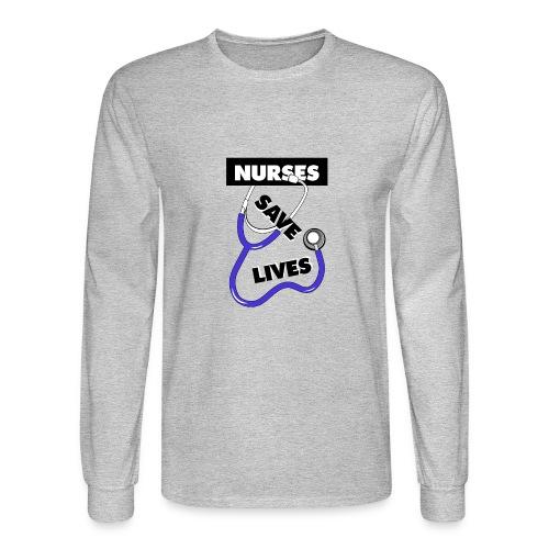Nurses save lives purple - Men's Long Sleeve T-Shirt