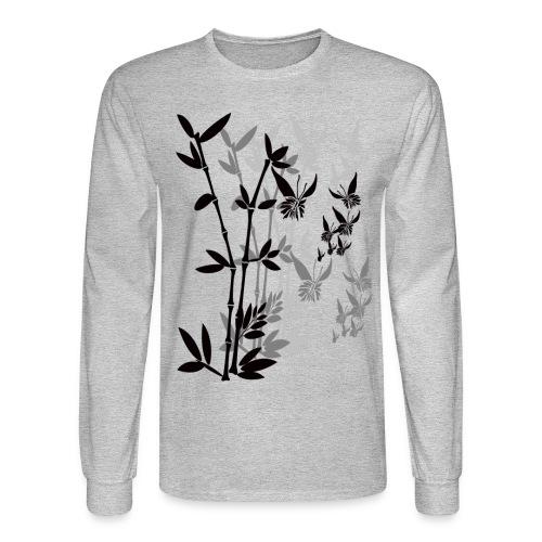 Butterflies n Bamboo-tran - Men's Long Sleeve T-Shirt