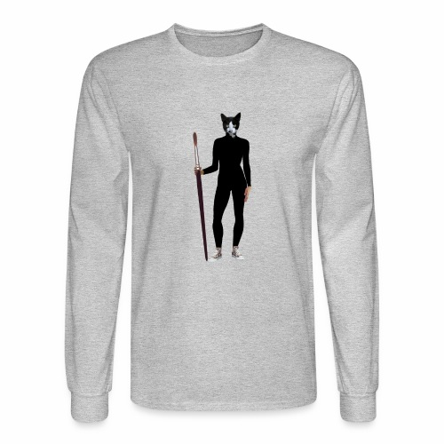 Cat Artist - Men's Long Sleeve T-Shirt