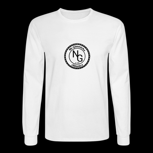 no gimmicks logo svart - Men's Long Sleeve T-Shirt