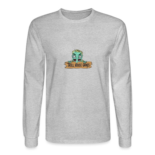 Troll House Games Cartoon Logo - Men's Long Sleeve T-Shirt