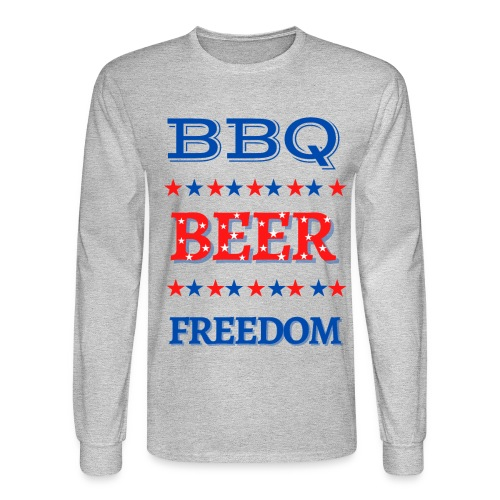 BBQ BEER FREEDOM - Men's Long Sleeve T-Shirt