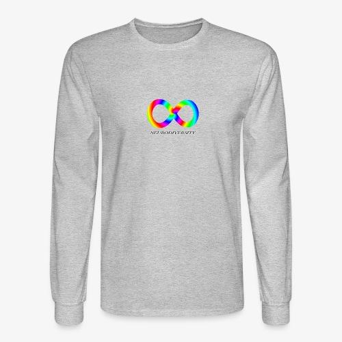 Neurodiversity with Rainbow swirl - Men's Long Sleeve T-Shirt