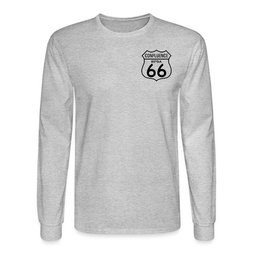 66thConfluenceSign outlines png - Men's Long Sleeve T-Shirt