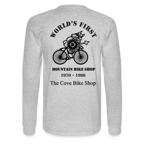 The Cove Bike Shop VIKING on back - Men's Long Sleeve T-Shirt