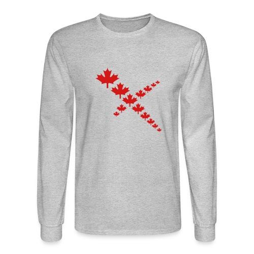 Maple Leafs Cross - Men's Long Sleeve T-Shirt
