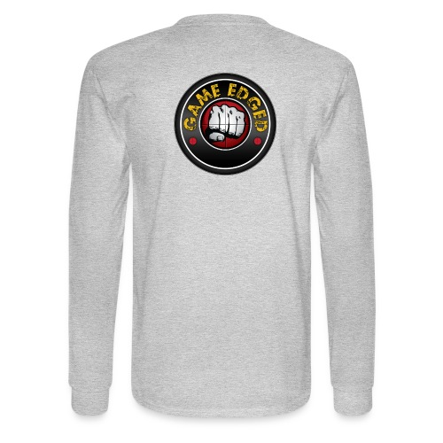Men's Game Edged Logo Tshirt with So Be It On the - Men's Long Sleeve T-Shirt