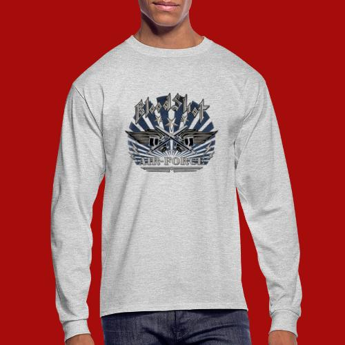 BloodShot Air Force with black - Men's Long Sleeve T-Shirt