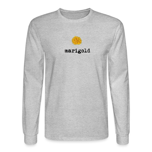Marigold (black text) - Men's Long Sleeve T-Shirt