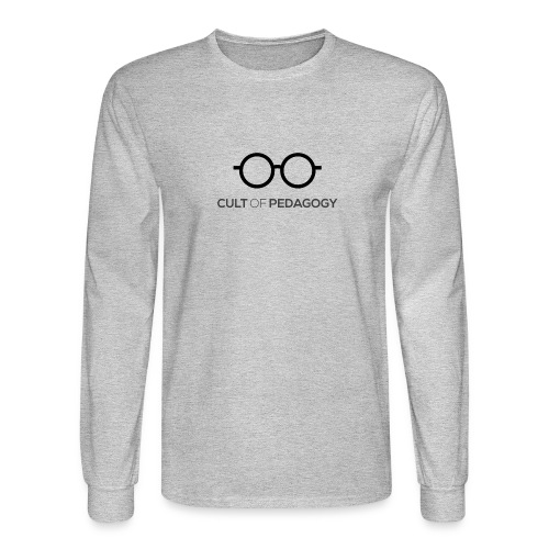 Cult of Pedagogy (black text) - Men's Long Sleeve T-Shirt